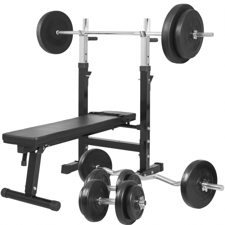 a6b62c89ae5 Weight Bench with 100KG Vinyl Weight Set-100299-00019-0048