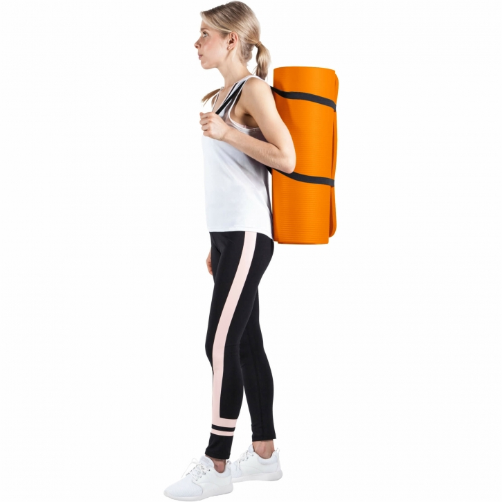 Deluxe NBR Yoga Mat XL Orange 190x100x1.5cm-100524-00036-0134