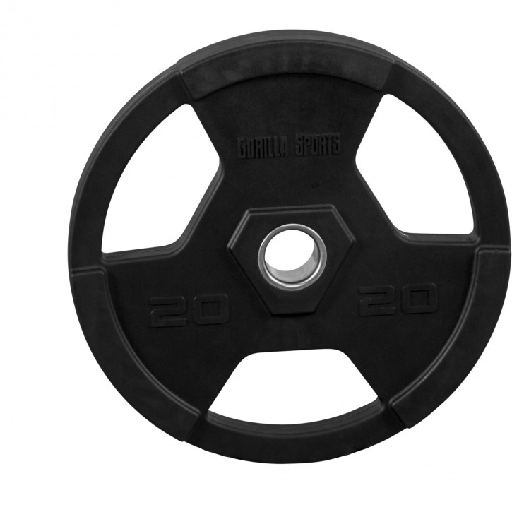 Pro Olympic Vinyl Tri Grip Weight Plate 20kg 100951 00019 0025