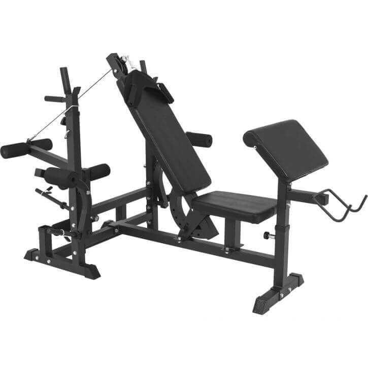 Superbe Universal Weight Bench Workstation   Black