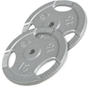4 x 2,5kg Marbo Sports Olympic Weight Plates Cast Iron Set 30kg//4 x 5kg