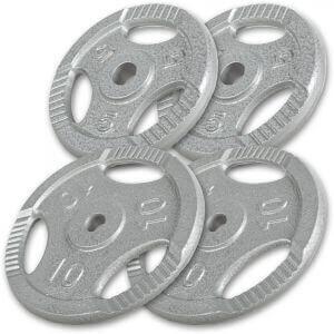 Gorilla Sports 2x 15KG Vinyl Tri Grip Weight Plates
