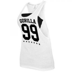 Gorilla Sports 99 Problems Loose Tank Top Fitness Shirt white